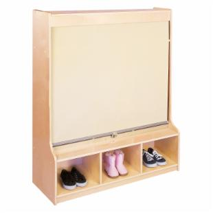 Guidecraft Hideaway 3 Section Locker - Tan
