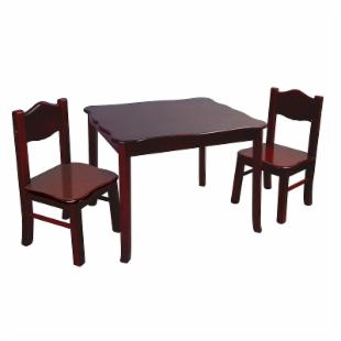 Guidecraft Classic Espresso Table &amp; Chair Set