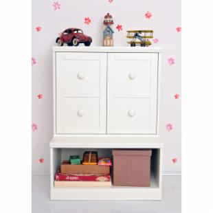 Makena Modular Open Storage Base &amp; Cabinet with Shelf