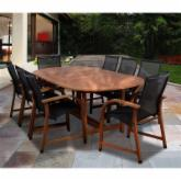  Indiana 9 Piece Oval Eucalyptus Patio Dining Set