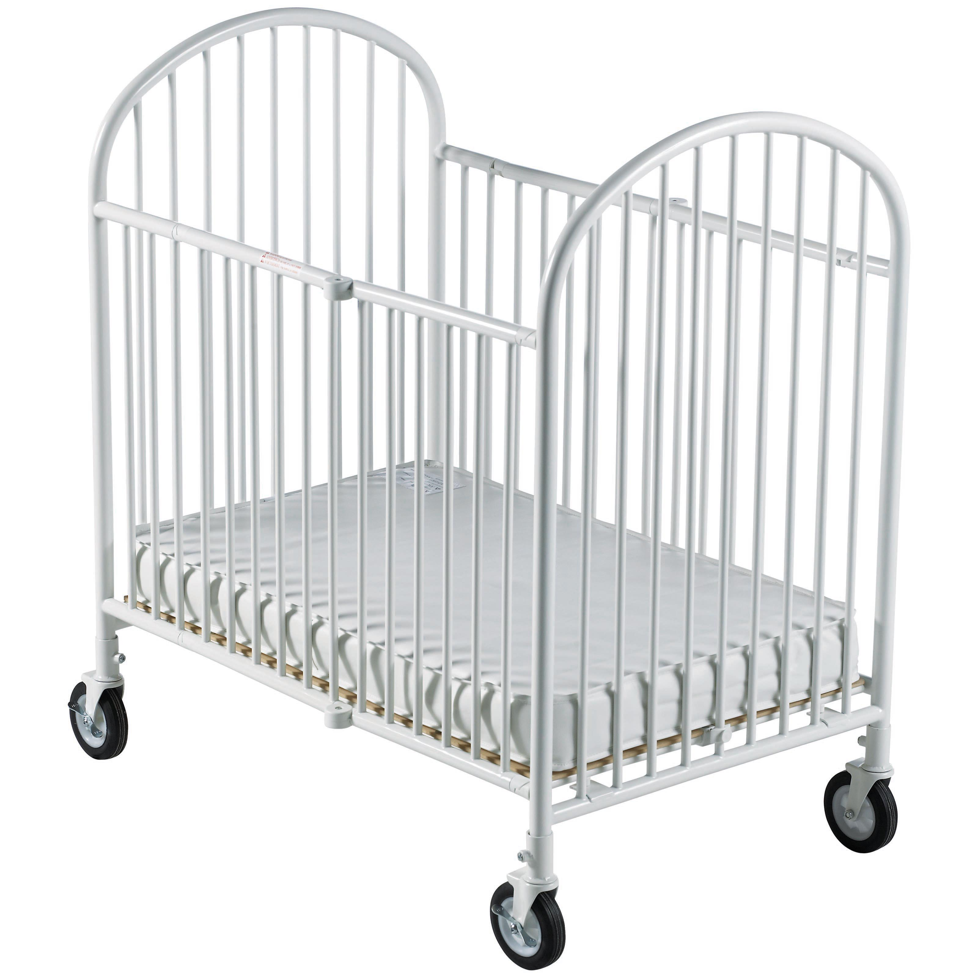 Foundations Pinnacle pact Size Steel Folding Crib with