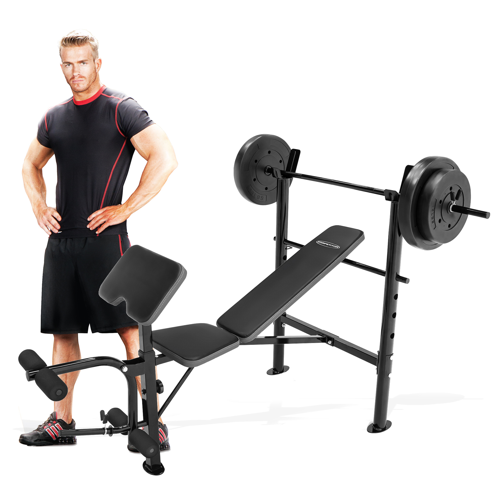 Competitor weight bench with 80 lb weight set weight benches at hayneedle Weight set and bench