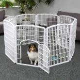 IRIS 8 Panel Exercise Pet Pen with Door