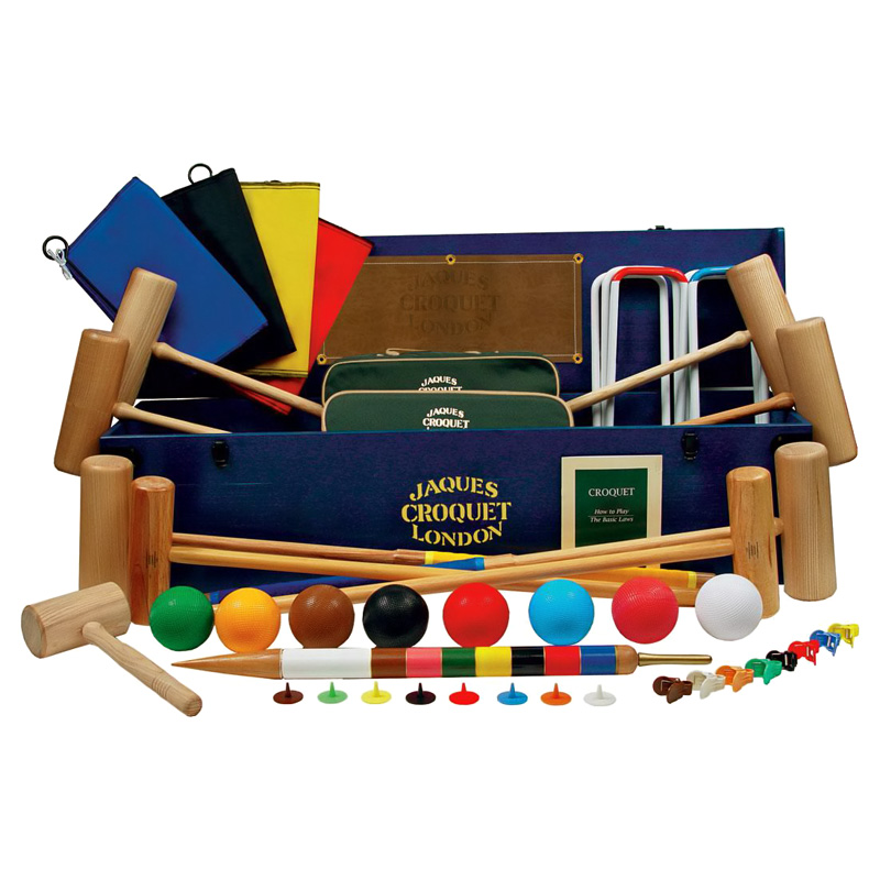 Jaques olympic croquet set croquet at hayneedle for Kitchen set olympic