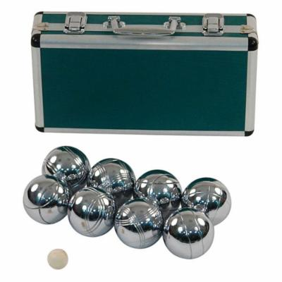  Jaques Alloy 8 Boule Bocce Ball Set with Metal Case   Petanque