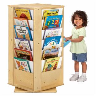 Jonti-Craft Revolving Literacy Tower Bookcase - Small