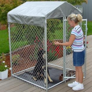 Lucky Dog Hi-Rise Box Dog Kennel