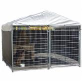  AKC 10 x 10 x 6 ft. Galvanized Dog Kennel