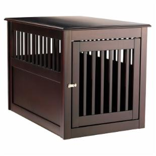 Berkshire Comfort Espresso End Table Pet Crate