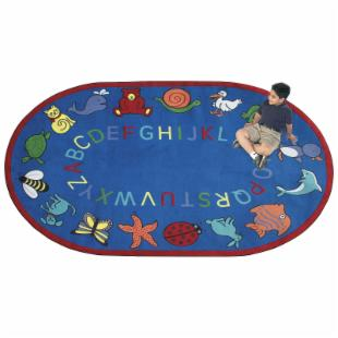 Joy Carpets ABC Animals Kids Area Rug - Assorted Colors
