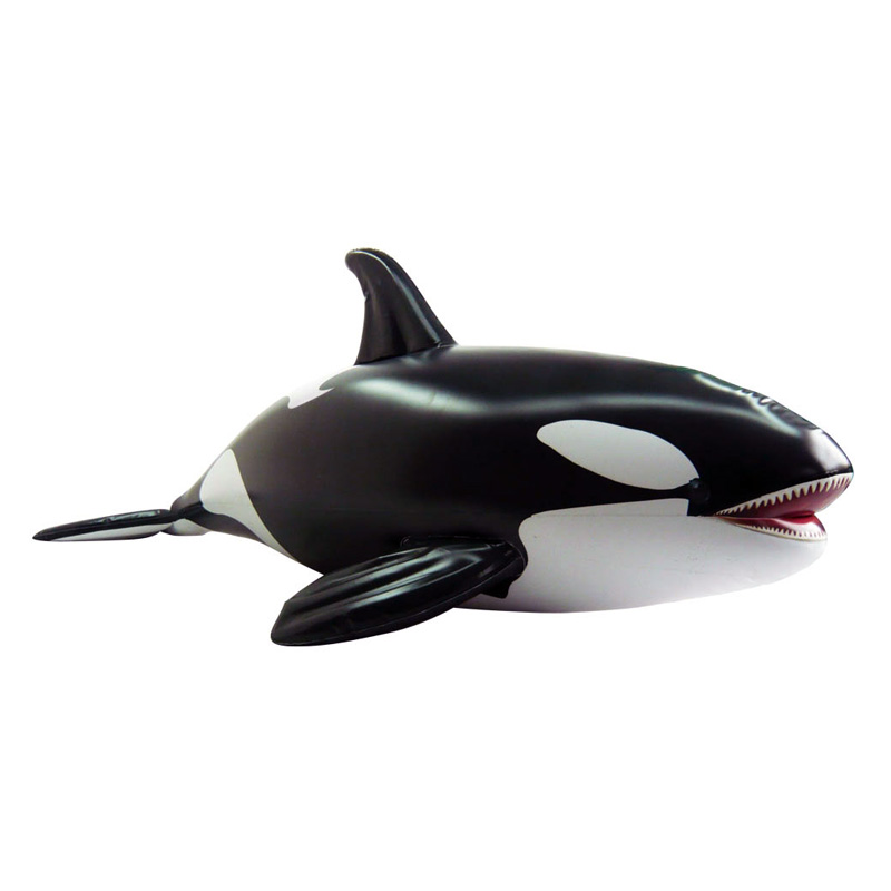 84 In Long Lifelike Inflatable Orca Whale At Hayneedle