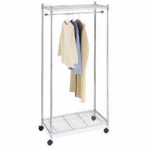 Whitmor Supreme Metal Garment Rolling Rack