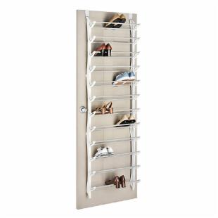 Whitmor 36-Pair Over-The-Door Shoe Rack