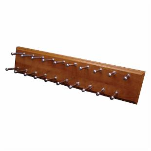 Easy Track Closet Molded Wood Tie Rack - RA1200-C-4