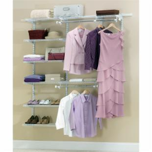 Rubbermaid Configurations White 3 - 6 ft. Deluxe Closet Kit -FG3H8800WHT