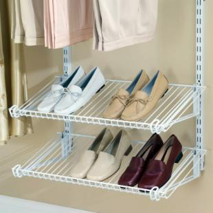 Rubbermaid Configurations Titanium Closet Shoe Shelves -FG3H8800WHT