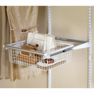 Rubbermaid Configurations White Sliding Basket - FG3J0503WHT