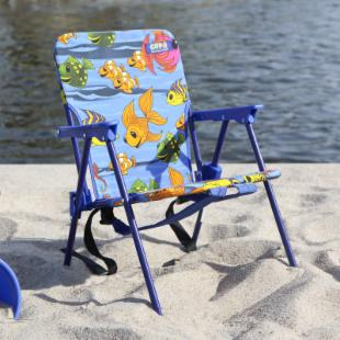 Copa Childrens Steel Fish Print Back-Pack Beach Chair