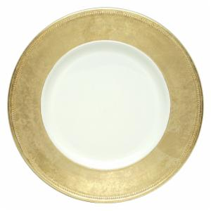 Charge it by Jay Broken Gold Leaf Rim Charger Plates - Set of 4