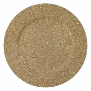 Charge it by Jay Glitter & Stars Gold Charger Plates - Set of 4