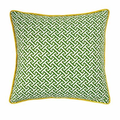 Jiti Maze 20 x 20 Green / Yellow Square Outdoor Pillow