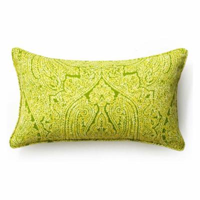 Green Paisley 12 x 20 Outdoor Decorative Pillow