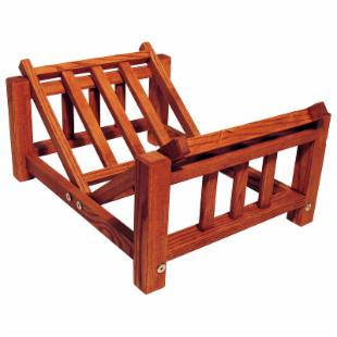 Mission Cherry Finish Log Rack
