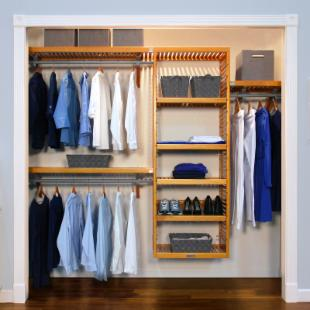 John Louis Home Deluxe Closet System in Maple or Mahogany