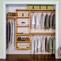 John Louis Home Premier Closet System in Maple or Mahogany