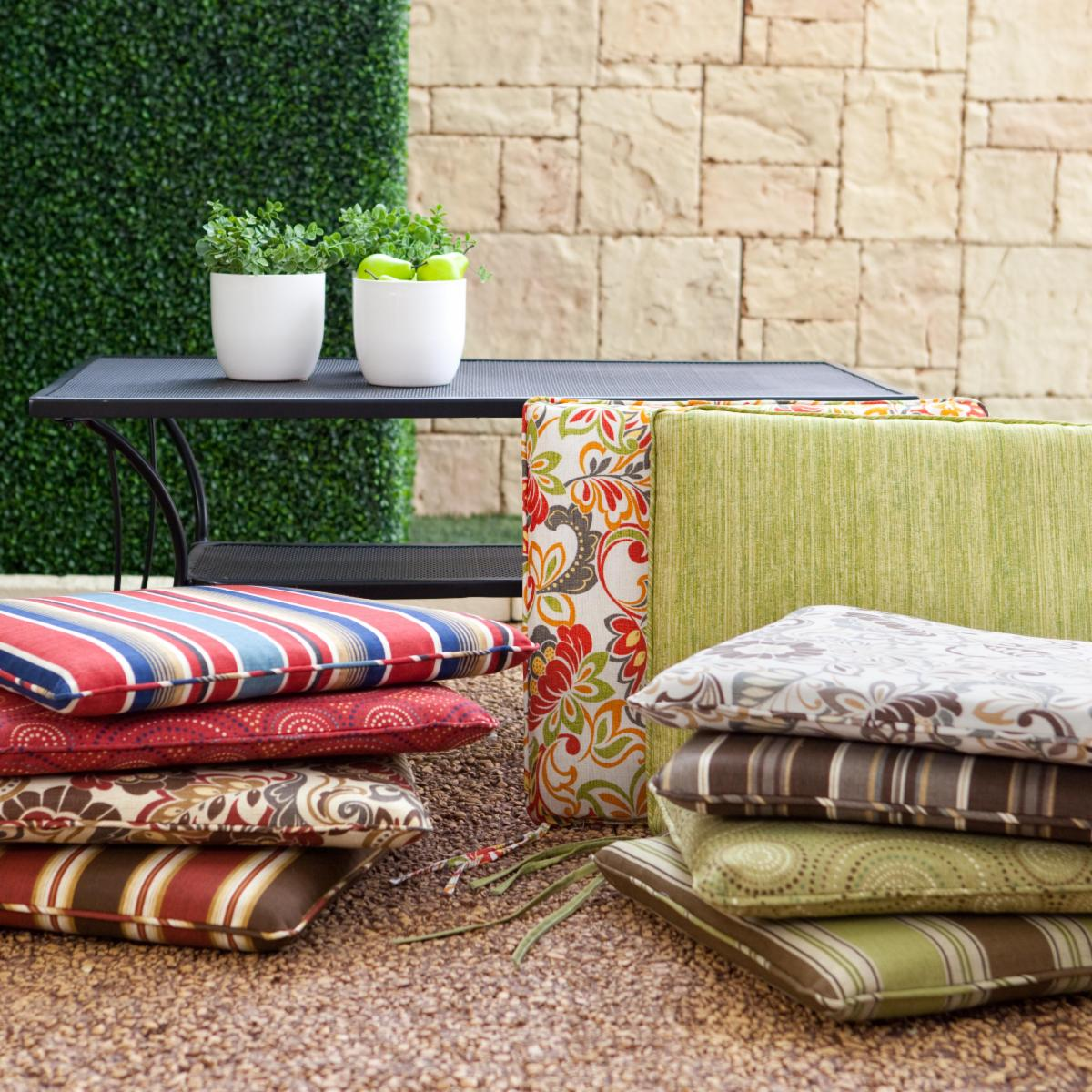 You Deserve It 21 X 19 Outdoor Furniture Seat Pad Cushions