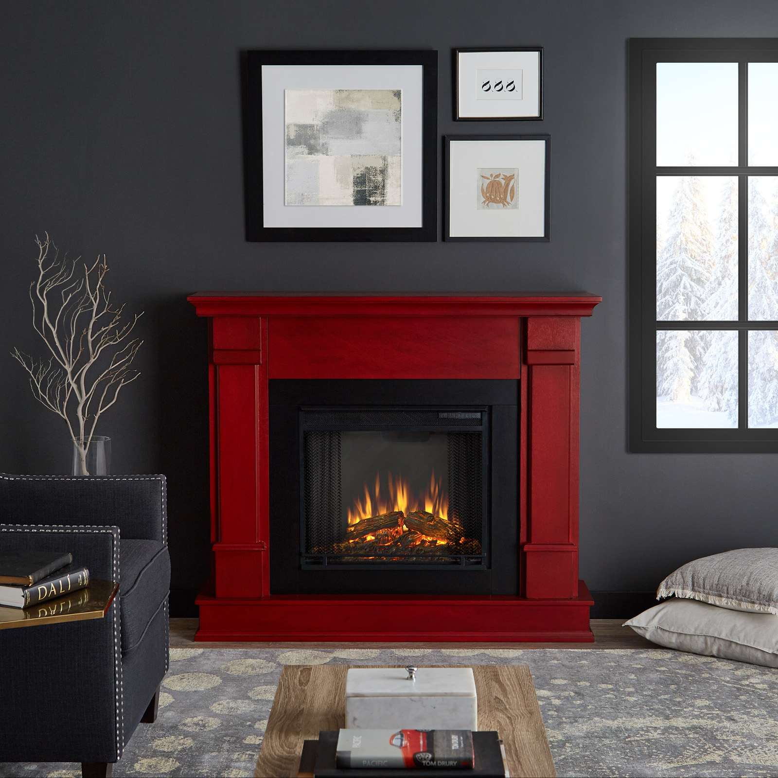 Real Flame Silverton Electric Fireplace Black Fireplaces At Hayneedle