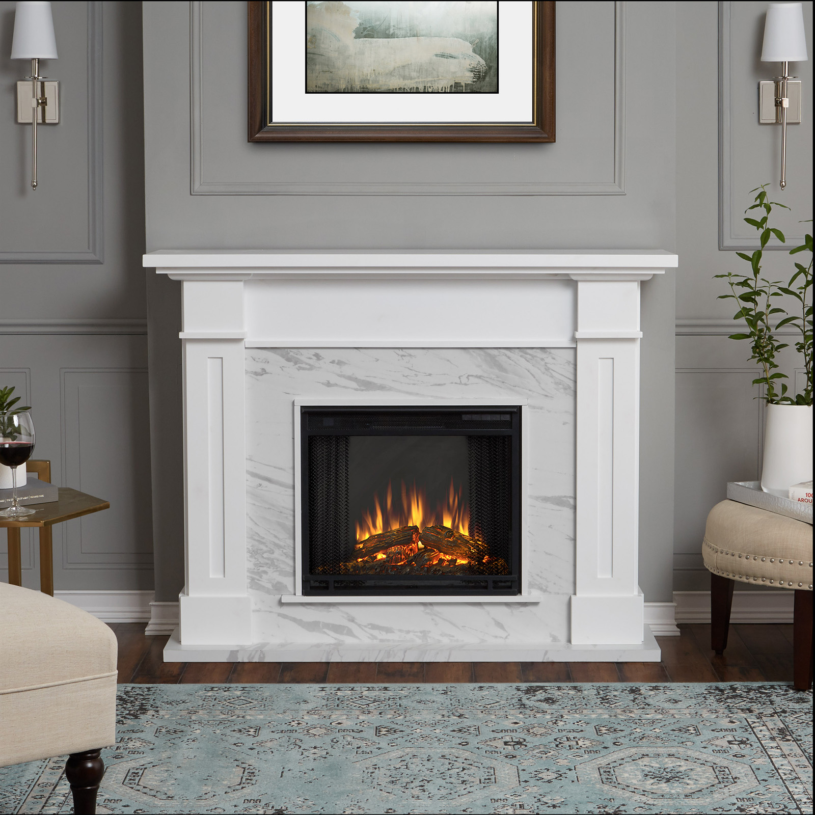 Real Flame Kipling Electric Fireplace Fireplaces At