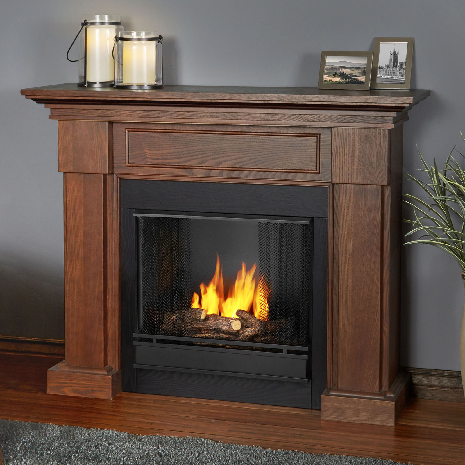 Real Flame Hillcrest Ventless Gel Fuel Fireplace