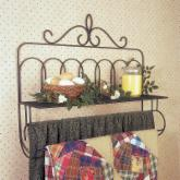  J &amp; J Wire Victorian Double Quilt Holder with Shelf