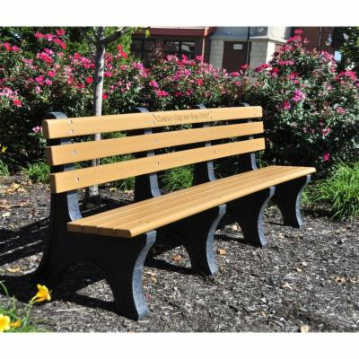 Jayhawk Plastics Comfort Park Avenue Recycled Plastic Commercial Park Bench