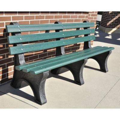 Jayhawk Plastics Commercial Recycled Plastic Central Park Bench