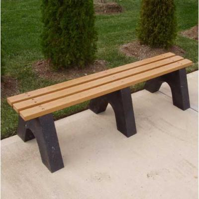 Jayhawk Plastics Recycled Plastic Commercial Backless Park Bench