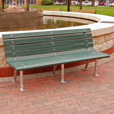 Jayhawk Plastics Saint Pete Recycled Plastic Commercial Park Bench