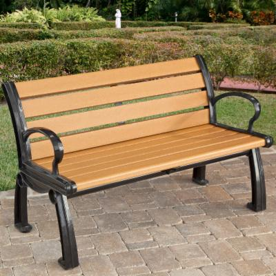 Jayhawk Plastics Heritage Recycled Plastic Park Bench