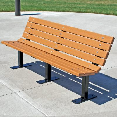 Jayhawk Plastics Contour Recycled Plastic Commercial Park Bench