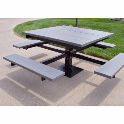 Jayhawk Plastics Commercial T-Picnic Table