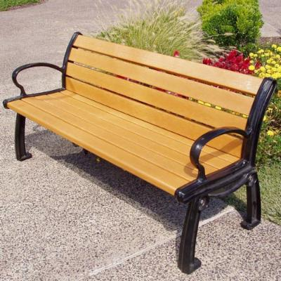 Jayhawk Plastics Heritage Recycled Plastic Park Bench with Personalization
