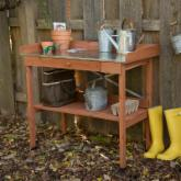  Cypress Wood Lotus Potting Bench