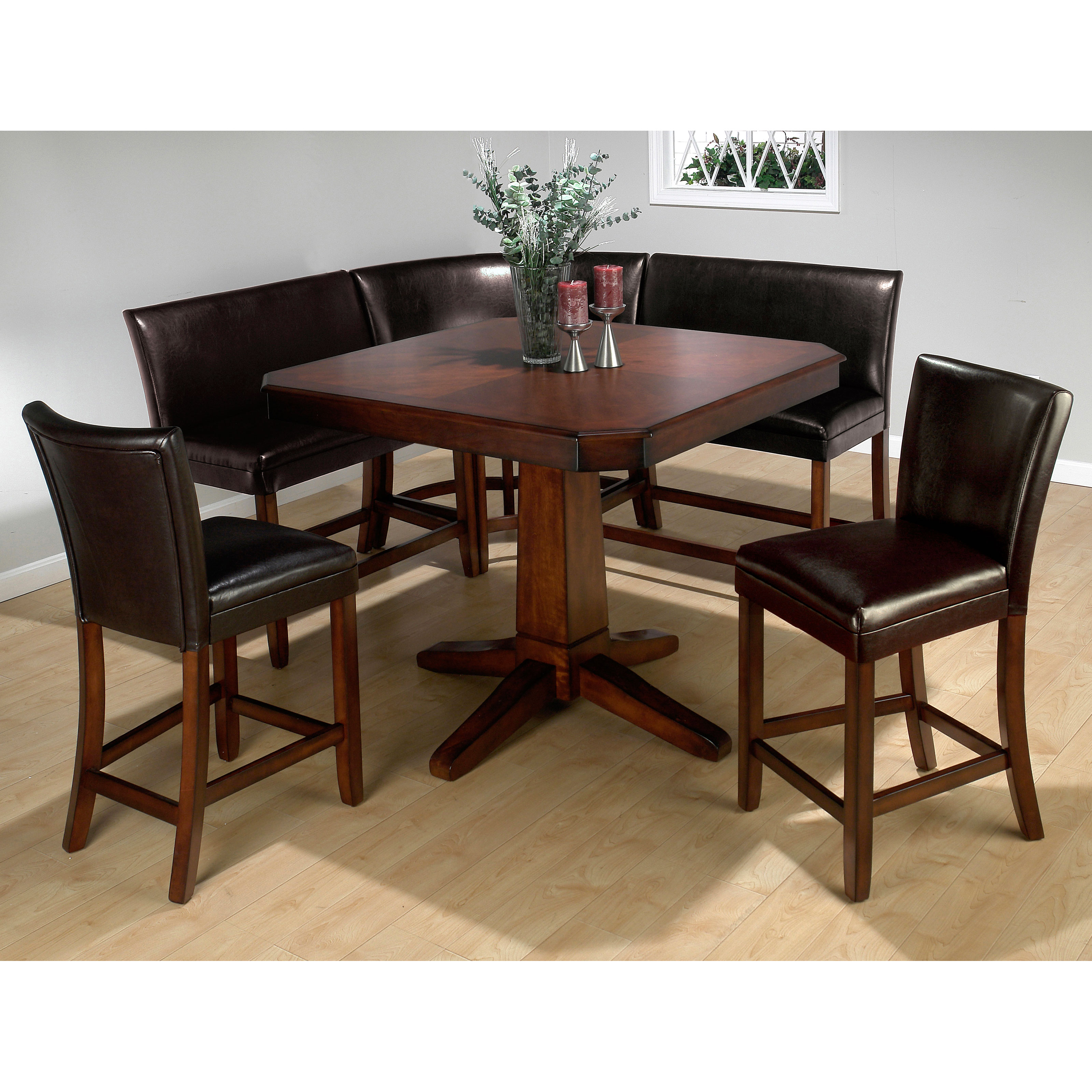 Jofran Chadwick Counter Height Table With Corner Bench And 2 Side Chairs At Hayneedle
