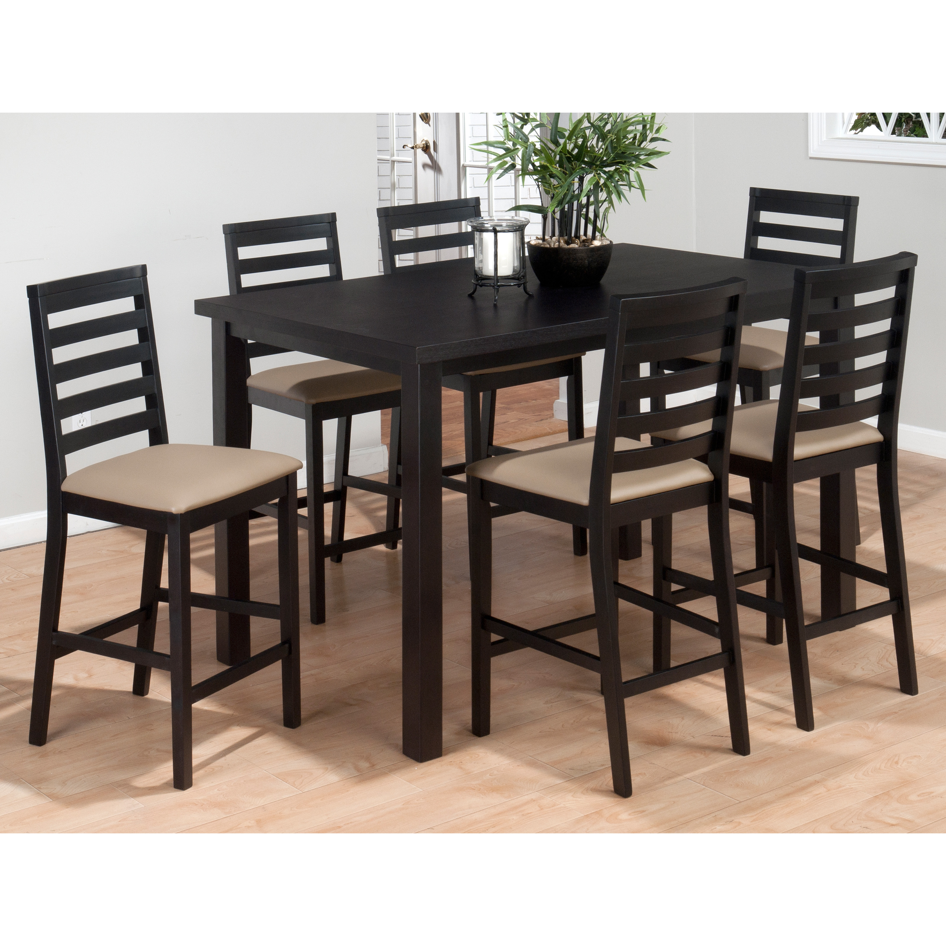Counter Height Is : Jofran Bonn Town 7 Piece Counter Height Dining Set at Hayneedle