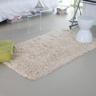 KAS Rugs Palm Springs II Shag Rug - Winter White