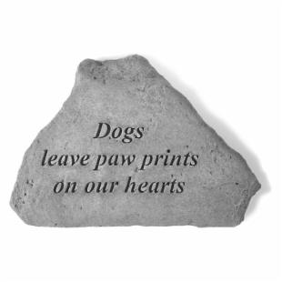 Dogs Leave Paw Prints Garden Accent Stone