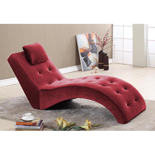 Inroom designs lounge chair burgundy at hayneedle In room designs