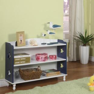 InRoom Designs 2 Tier Bookcase - Navy/White