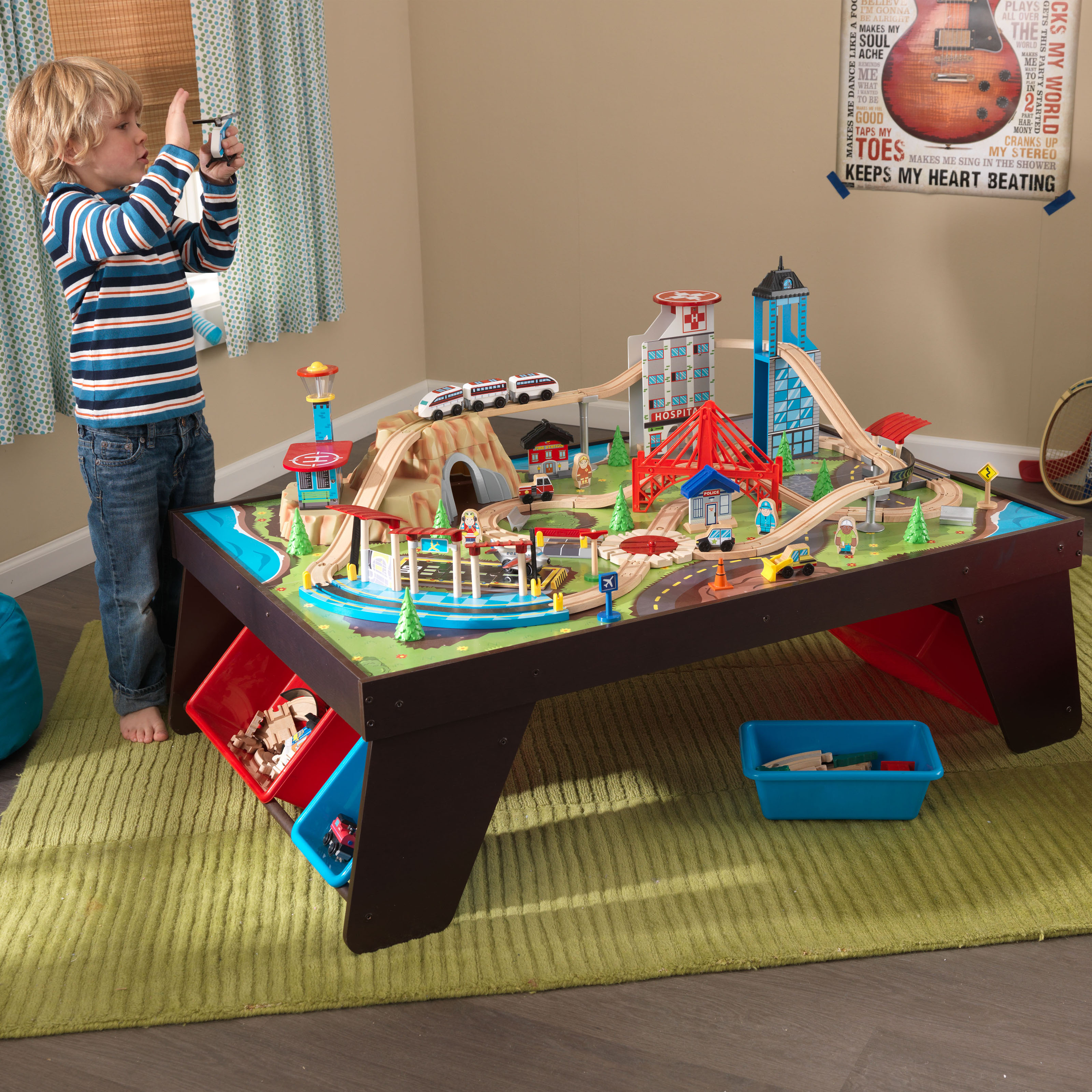 Target Toy Trains : Kidkraft aero city train set and table trains